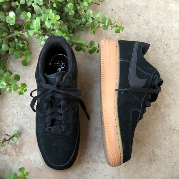 Nike Shoes   Nike Black Suede Air Force